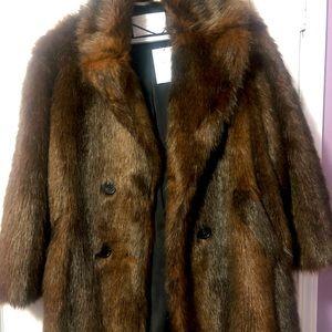 Zara Faux Fur Coat